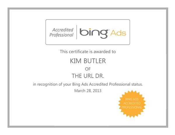 Bing Ads Professional Certification