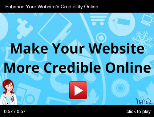 Enhance Your Website's Credibility Online - The URL Dr