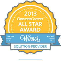 2013 Constant Contact All Star Award Solution Provider