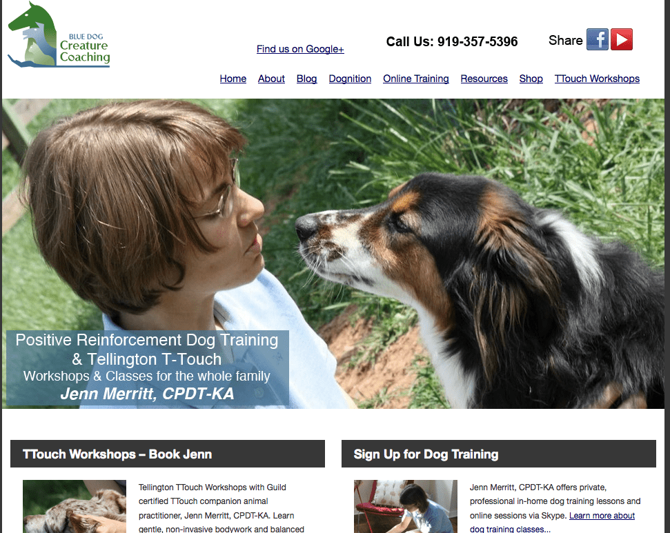 Blue Dog K-9 Website Redesign