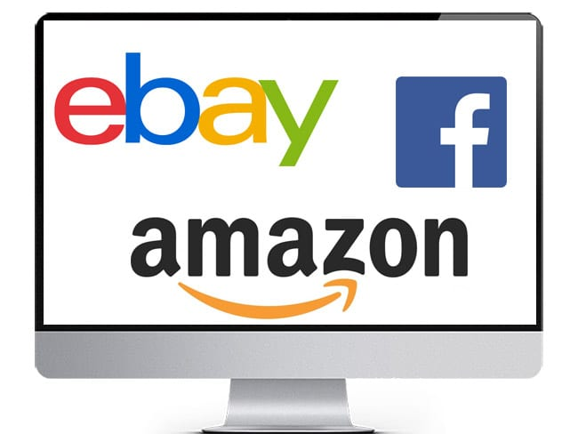 Sell on Ebay Amazon & Facebook