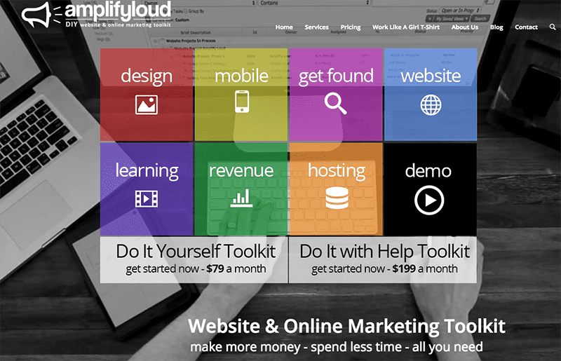 Do-It-Yourself Online Marketing Tool for Entrepreneurs from Amplify Loud