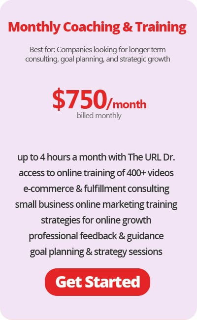 Monthly E-commerce Coaching & Training