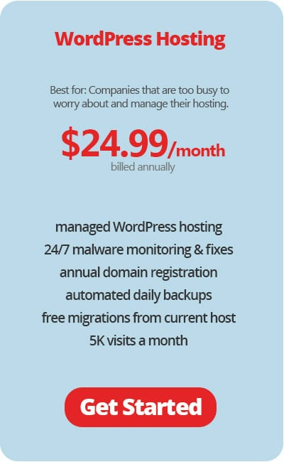 WordPress Hosting Annual Plans
