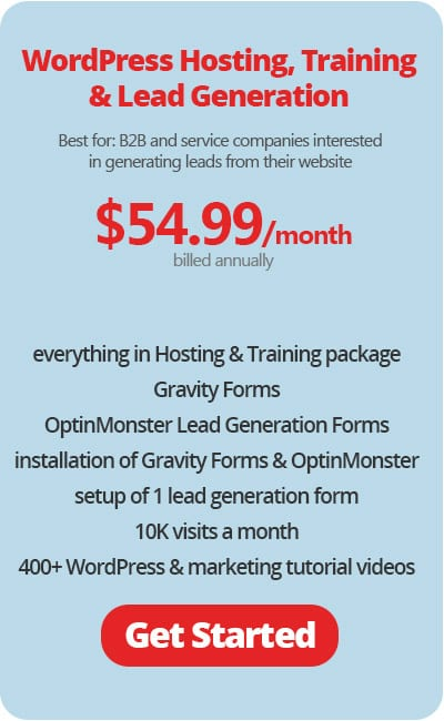 WordPress Hosting with Lead Generation