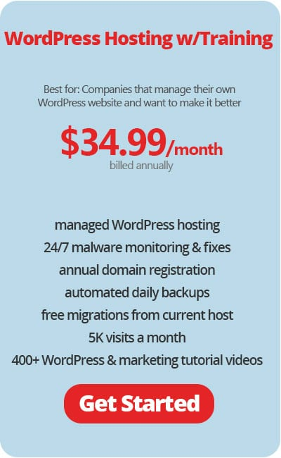 WordPress Hosting with Training