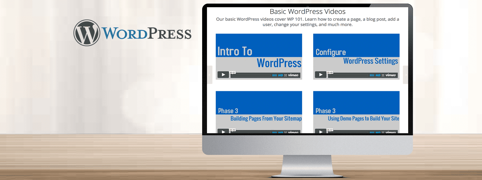 WordPress Web Hosting with Training Videos