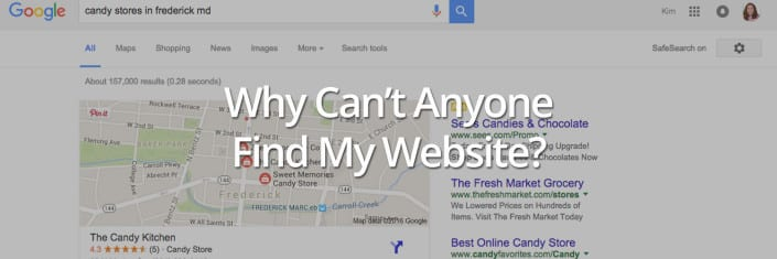 Why Can't Anyone Find My Website? Online Learning
