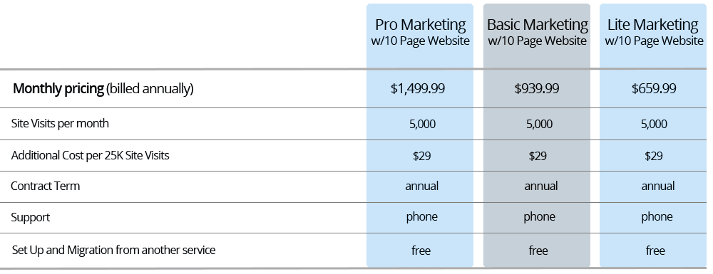 Marketing Plans with 10 Page WordPress Website - Annual ...