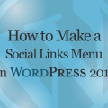 How to Make a Social Links Menu in WordPress Twenty Sixteen Theme