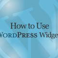 How to Use WordPress Widgets Video Tutorial