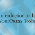 Introduction to the WordPress Toolbar Video Tutorial