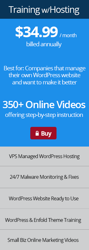 Buy Small Business Online Training with VPS WordPress Hosting Now