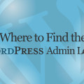 Where to find the WordPress Admin Login