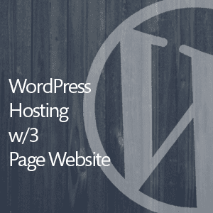 WordPress Hosting with 3 Page Website