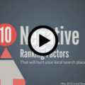 Top 10 Negative Ranking Factors in Local Search