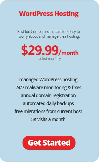 WordPress Managed Hosting Monthly