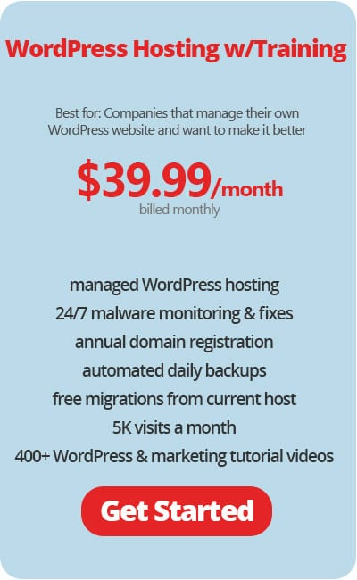 WordPress Hosting & Training Monthly