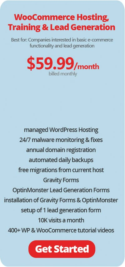 WooCommerce Hosting with Lead Generation