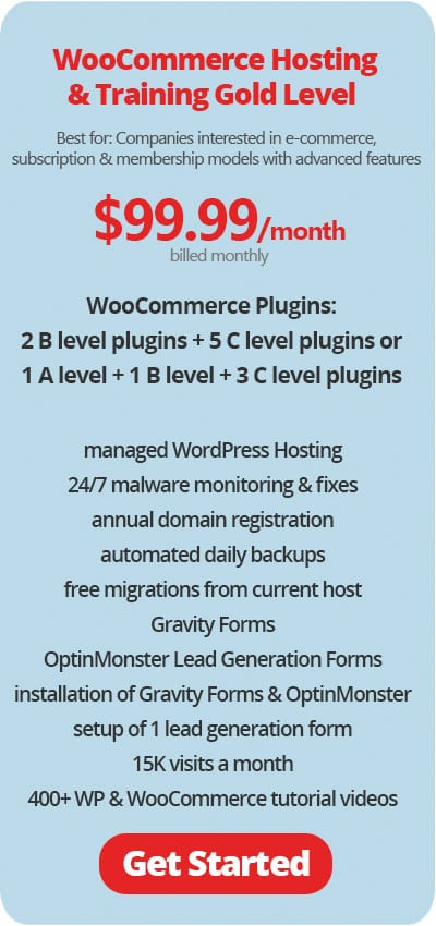 WooCommerce Hosting and Training Gold