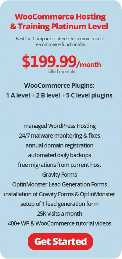 WooCommerce Hosting and Training Platinum