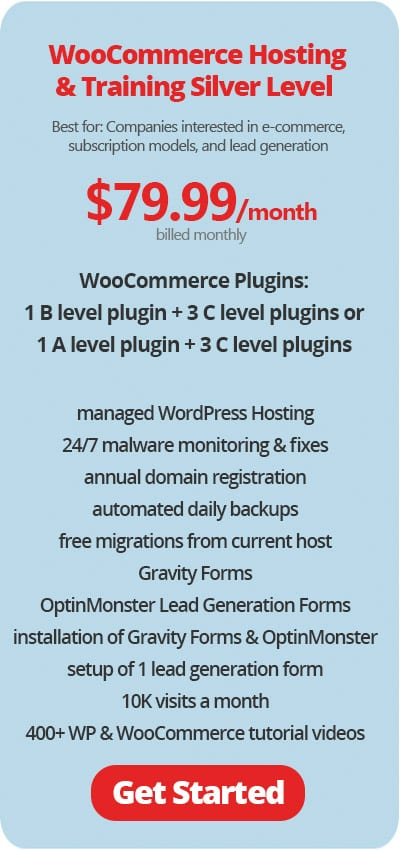 WooCommerce Hosting and Training Plans